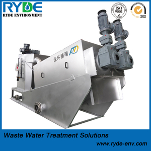 Fully Automatic Auger Multi Disc Screw Press for Activated Wastewater Sludge Dewatering