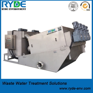 Pre-thickening Screw Press Sludge Dehydrator Replacing Sludge Concentrating Pool